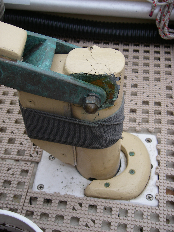 Steering Rehab  Part 1  Rudder  Tiller Connection