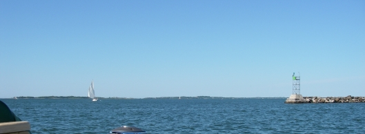 Fishers Island, from Stonington inner breakwater